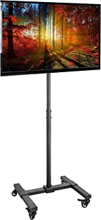 VIVO Mobile TV Display Stand for 13 to 42 inch LED LCD Flat Panel Screens | Rolling Floor Stand Height Adjustable Mount with Wheels (STAND-TV07W)