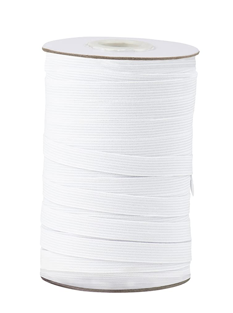Elastic Spool - White Sewing Elastic Band, Braided Stretchy High Elasticity Roll for DIY Crafts, Clothes, Waistband, 109 Yards in Length 0.5 Inches Wide