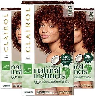 Clairol Natural Instincts Semi-Permanent, 5R Medium Auburn, Cinnaberry, Pack of 3