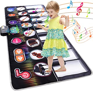 Cyiecw Giant Piano Music Mat, Keyboard Play Mat Music Dance