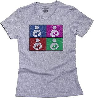 Breastfeeding Symbol - Colorful Squares Pride Women's Cotton T-Shirt