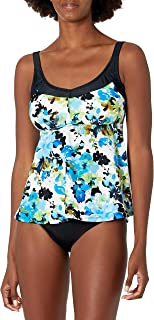 Maxine Of Hollywood Women's Deluxe Bra Cup Underwire Tankini Swimsuit Top