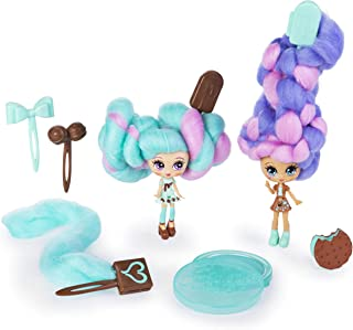Candylocks BFF 2 Pack, 3-Inch Mint Choco Chick & Choco Lisa, Scented Collectible Dolls with Accessories