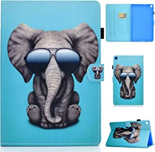 Galaxy Tab A 10.1 Case 2019, SM-T510 Case, USTY Slim Fit Premium PU Leather Folio Stand Wallet Case with Card Holder Prote...