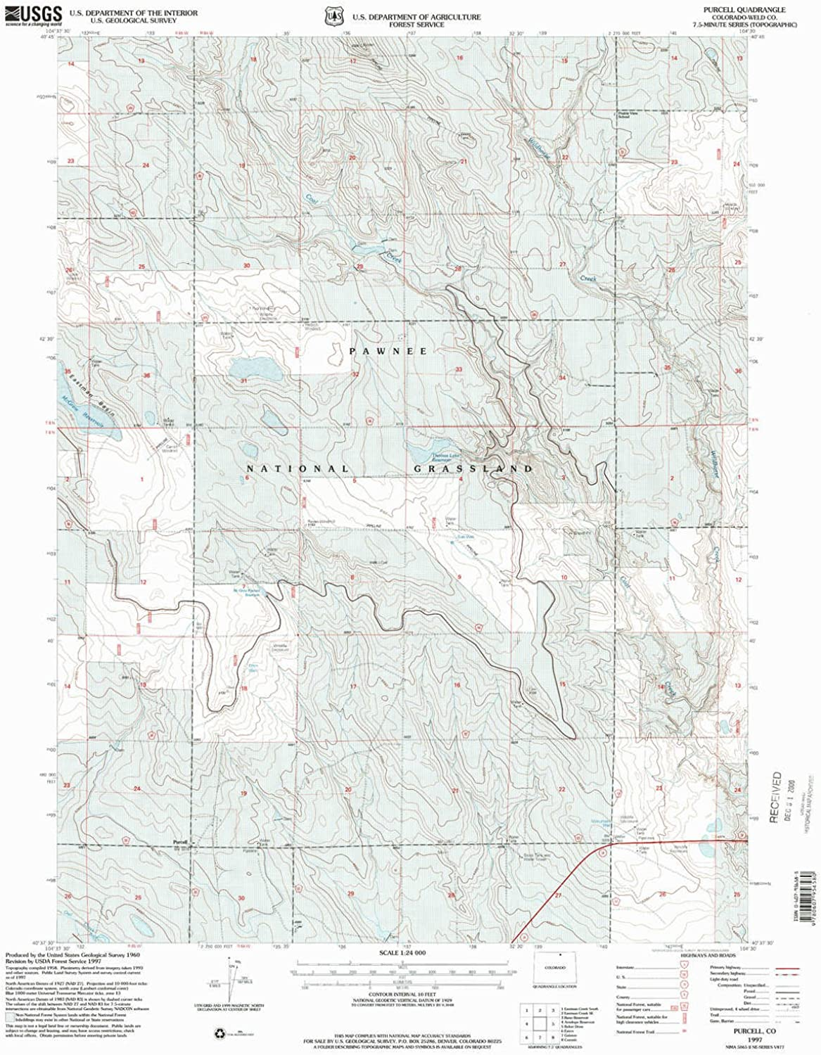 Purcell CO topo map, 1 24000 Scale, 7.5 X 7.5 Minute, Historical, 1997, Updated 2000, 26.8 x 22.1 in