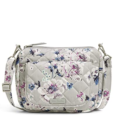 Vera Bradley Carson Performance Twill Mini Shoulder Bag (Park Stripe) Cross Body Handbags