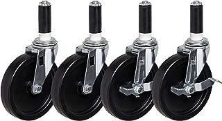 Polyolefin Wheel 4-7//8 Mount Height 300 lbs Capacity 1-3//8 Wheel Width 4 Wheel Dia 1//2-13 Stem Dia E.R Swivel 1 Stem Height Wagner Stem Caster Plain Bearing