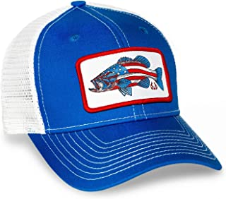 Fishing AmeriBass Mesh Back Hat Blue