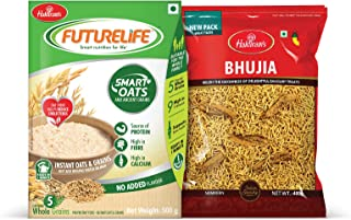 Haldiram's Bhujia 400 g & Haldiram's Futurelife Smart Oats 500g No Added Flavour