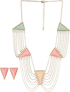 "Smart Living Company 19"" Modern Art Deco Jewelry Set"