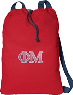 Broad Bay Phi Mu Sorority Drawstring Backpack Canvas Phi Mu Cinch Pack