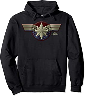 Marvel Captain Marvel Movie Chest Symbol Hoodie