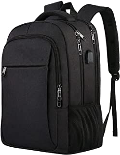 Professional Business Backpack Bag with USB Charging Port, Waterproof School Backpack Female Men, Suitable for 15.6-inch Laptop and Notebook Gray, Travel Laptop Backpack