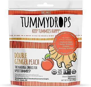Non-GMO Project Verified Double Ginger Peach Tummydrops 33 Count