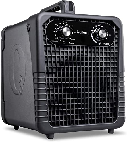 new arrival Ivation Ozone Generator online sale Air Purifier, Powerful Compact Unit Deodorizes, Sanitizes & Improves Indoor Air Quality Up To 4000 Sq. Ft. - for Dust, Pollen, Pets, Smoke & More online sale