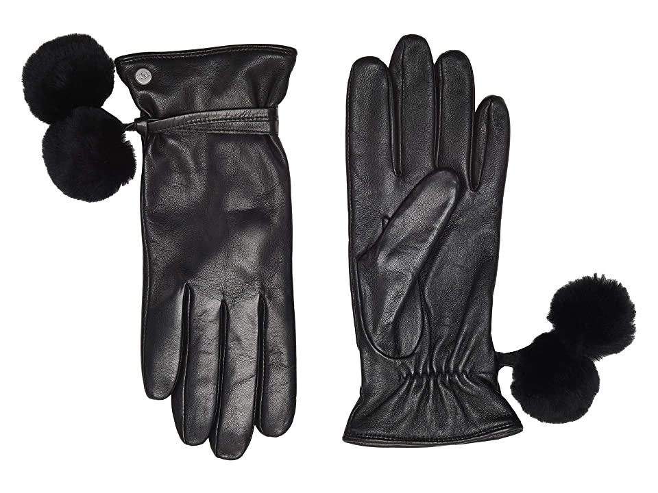 Vintage Style Gloves- Long, Wrist, Evening, Day, Leather, Lace UGG Sheepskin Pom and Leather Tech Gloves Black Extreme Cold Weather Gloves $129.95 AT vintagedancer.com