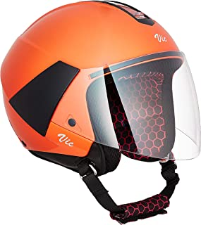 Steelbird SBH-5 VIC Female Glossy Coral Orange with Plain Visor,580 mm