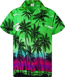 Camisa Hawaiana para Hombre Funky Casual Button Down Very Loud Manga Corta Unisex Beach