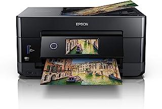 Epson Expression Premium XP 7100 3 in 1 Multifunktionsgerät Drucker (Scannen, Kopieren, WiFi, Ethernet, Duplex, Duplex ADF, Einzelpatronen, 5 Farben, DIN A4, Amazon Dash Replenishment fähig) schwarz