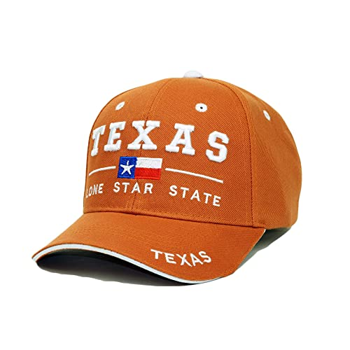 ba499c51 Texas State Embroidery Hat Long Star State Adjustable Baseball Cap