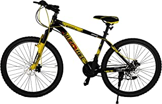Atlas Ultimate Wikkid 26 Inches 21 Speed Front Suspension Dual Disc Brake Bike for Adults Black & Yellow