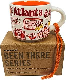 Atlanta Starbucks Been There Collection Ceramic Coffee Demitasse Ornament 2 oz