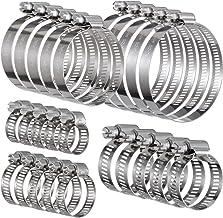 KWOKWEI Roestvrijstalen slangklemmen, 25 stuks slangklemmen, 10-76 mm, 304 roestvrij staal, spanbereik, bandbreedte 12 mm,...