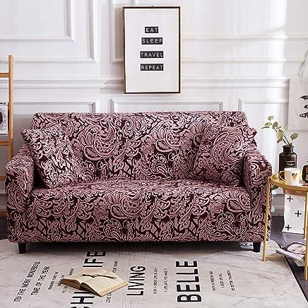 WMWZ Jacquard Sofabezüge 1 2 3 4 Sitzer Couch Schonbezug Sofahülle Jacquard Easy Fit Elastic Fabric Stretch,1Seater