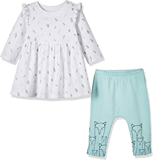 Baby Toddler Girls Fall Thanksgiving Outfit 2-Piece Floral Dress and Pant Set