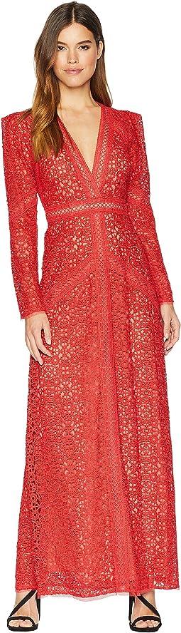 Mosaic Lace Maxi Dress