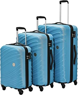 AT by Samsonite 3-Piece Hardside ABS Trolley Luggage Set (22, 27 & 31 Inch) - Ocean Blue