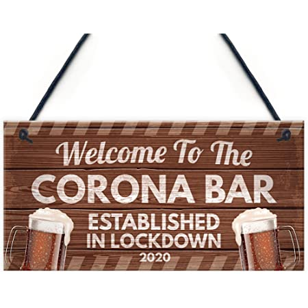 Funny Corona Bar Rules Sign Hanging Garden Pub Bar Sign Alcohol Beer Gift