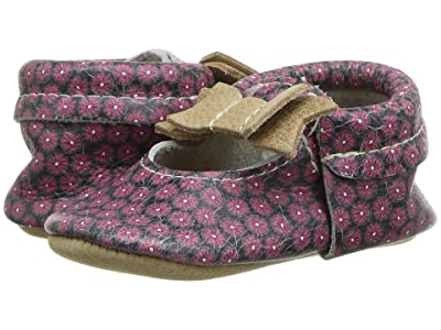 Freshly Picked Pink Poppies Ballet Flat Bow Mocc (Infant/Toddler) (Burgundy/Navy/Brown) Girl