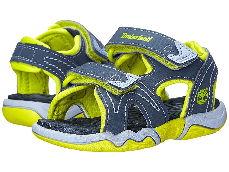 Timberland Kids Adventure Seeker 2 Strap Sandal (Toddler/Little Kid) (Dark Grey/Green) Kids Shoes