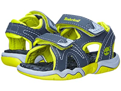 Timberland Kids Adventure Seeker 2 Strap Sandal (Toddler/Little Kid) (Dark Grey/Green) Kids Shoes