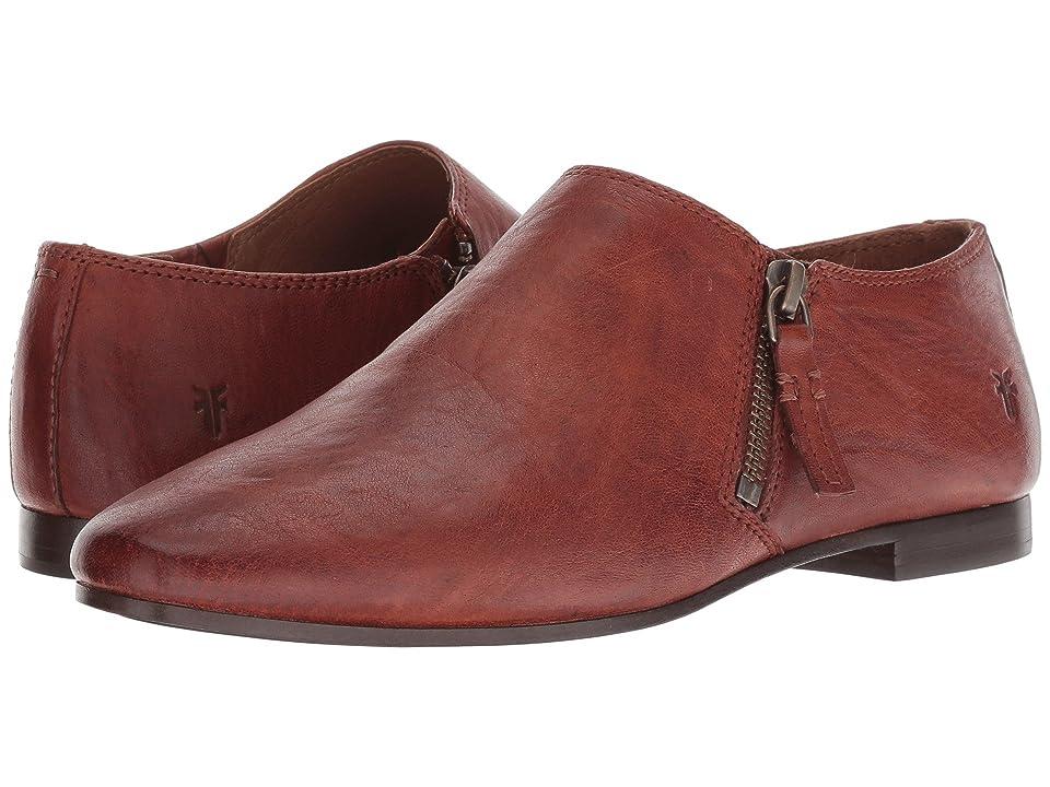 Frye Terri Zip Ankle Bootie (Cognac Antique Soft Vintage) Women