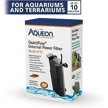 Aqueon Submersible Internal Aquarium Filter, AT10 Gallons