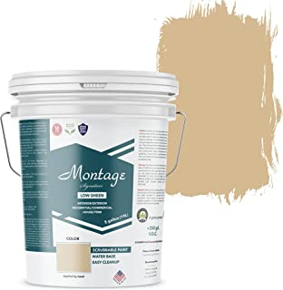 Montage Signature Interior/Exterior Eco-Friendly Paint, Wheat Ridge - Low Sheen, 5 Gallon