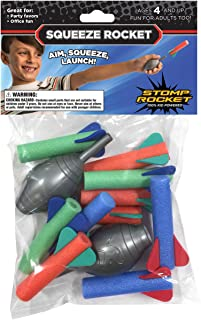 Stomp Rocket Squeeze Rocket, 10 Rockets - Outdoor Rocket Toy for Boys and Girls