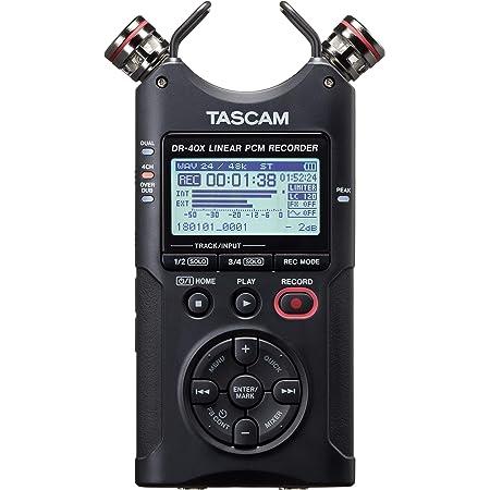 TASCAM タスカム - USB オーディオインターフェース搭載 4チャンネル リニアPCMレコーダー DR-40X