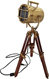 Vintage Desk Lamp Spotlight Small Searchlight with Stand Tripod LED Tabletop Lamp Study Home Decor