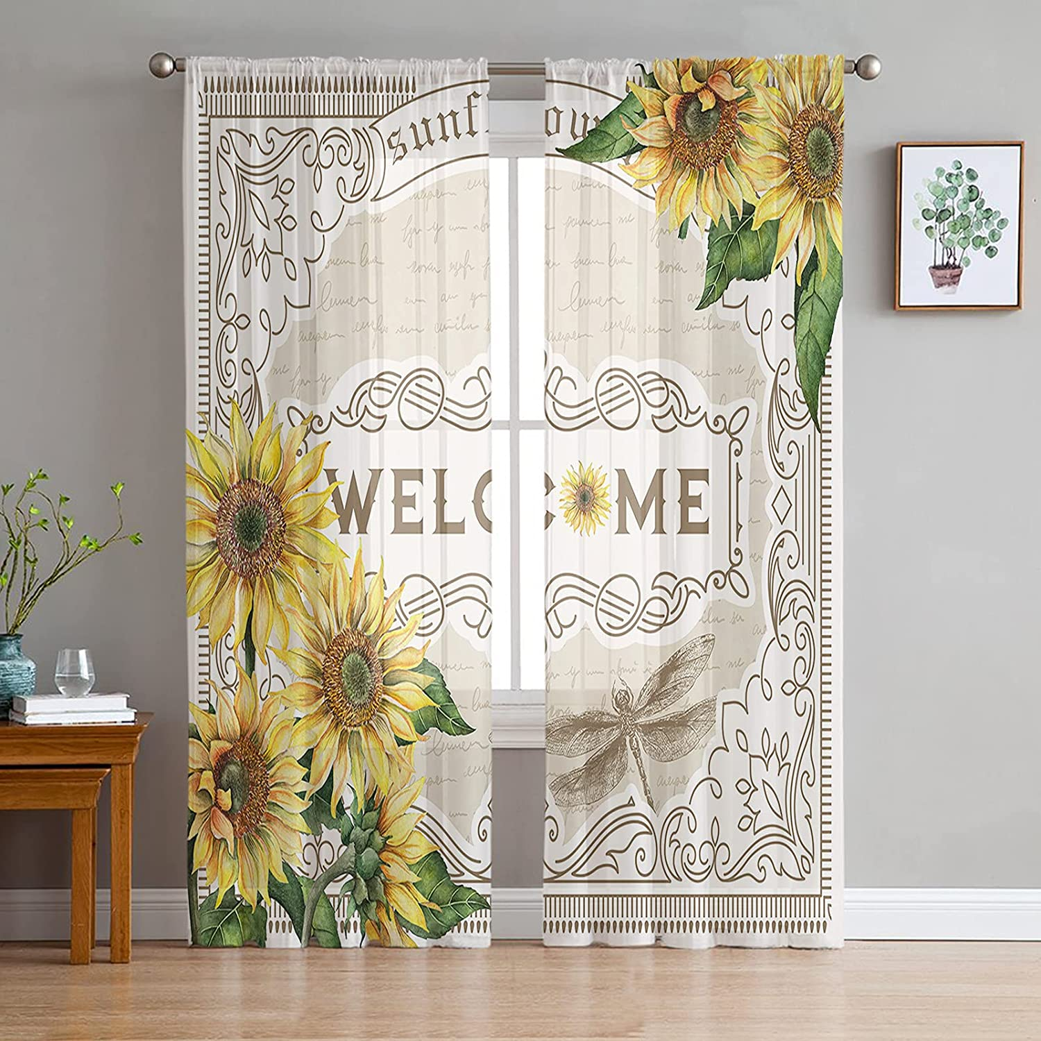 Outlet ☆ Free Shipping Sheer Voile Chiffon Window Curtains with Wrinkle Max 67% OFF Fre Touch Soft