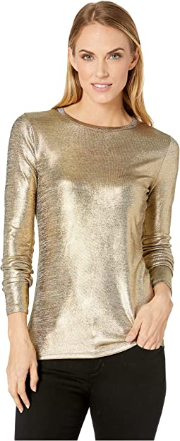 Foil Jersey Long Sleeve Crew