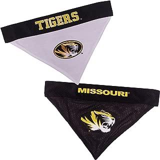 Pets First Collegiate Pet Accessories, Reversible Bandana, Missouri Tigers, Small/Medium