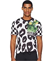 Versus Versace - Checkerboard Leopard T-Shirt