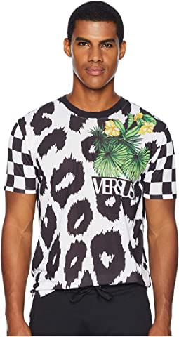 Checkerboard Leopard T-Shirt