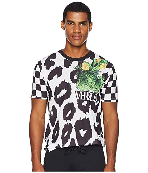 Versus Versace Checkerboard Leopard T-Shirt