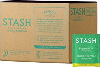 Stash Tea Peppermint Herbal Tea 100 Count Box of Tea Bags, Premium Herbal Tisane, Minty Refreshing Herbal Tea, Enjoy Hot or Iced