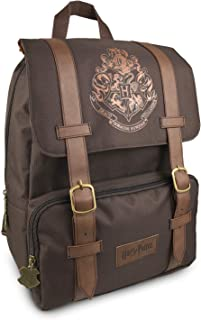 Official Harry Potter Hogwarts Logo Flapover Laptop Backpack School Bag