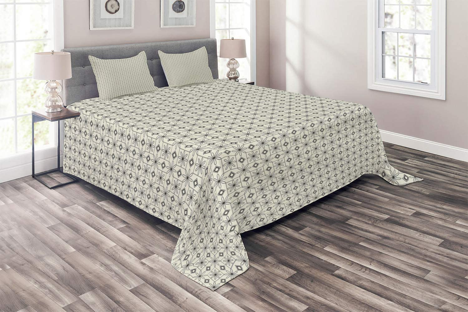 Ambesonne Mosaic Coverlet Flower Petals Fr Squared 5 popular in Geometric Popular products